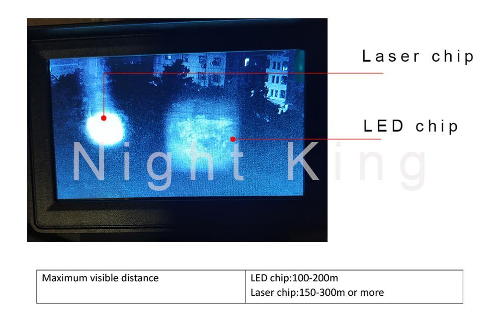 ao ar livre caça óptica vista binóculos com lcd e ir lanterna