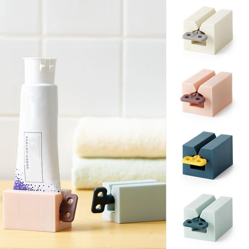 Household Toothpaste Dispenser Bathroom Plastic Cream Tube Squeezing Dispenser Rolling Tube Squeezer Bathroom Accessories Set