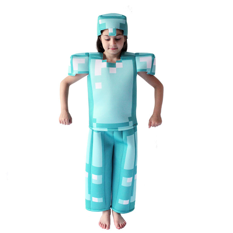 Game Character Halloween Cosplay Costumes for Kids Party Stage Role Play Dress Up Jumpsuit Hat Girls Boys Anime Novelty Clothes