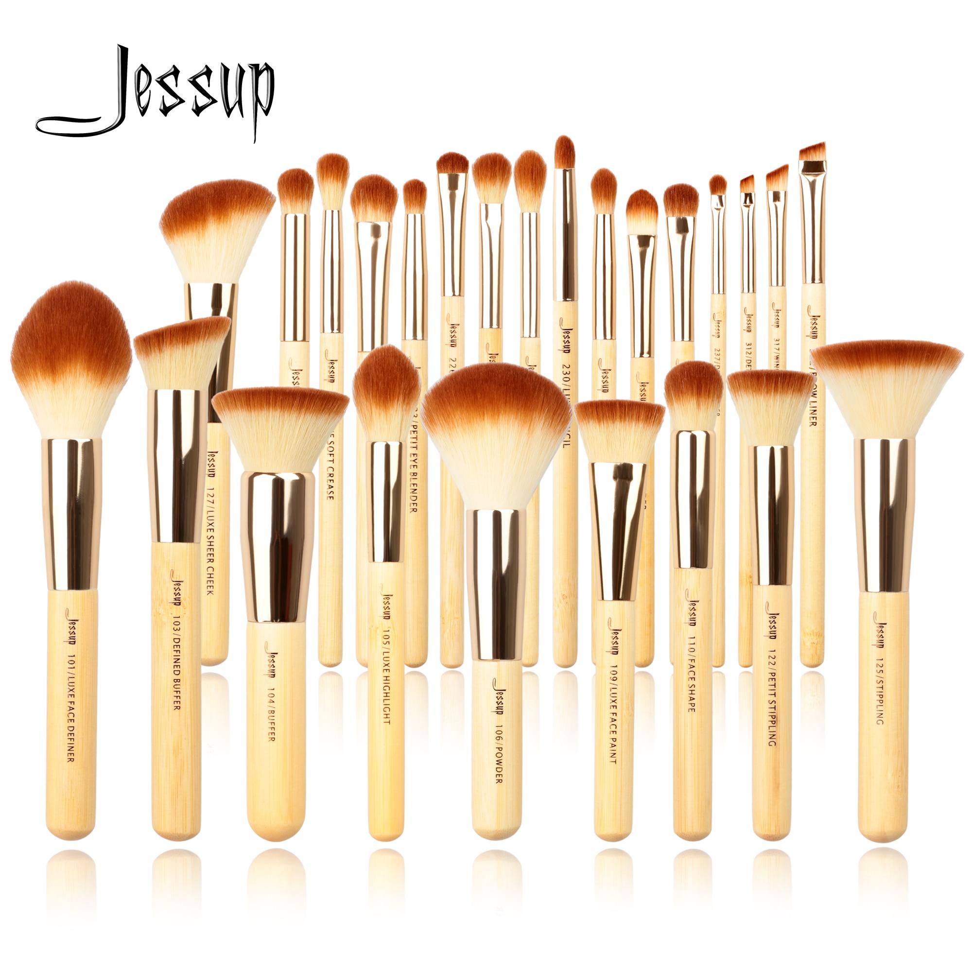 Jessup Bamboo Professional Makeup brushes set 6-25pcs Beauty Foundation Powder Eyeshadow Make up brush