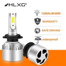 Hlxg H4 LED H7 H11 H8 HB4 H1 H3 9005 HB3 oto araba kafa lambası ampulleri motosiklet 8000LM araba aksesuarları 6500K 4300K 8000K sis farları