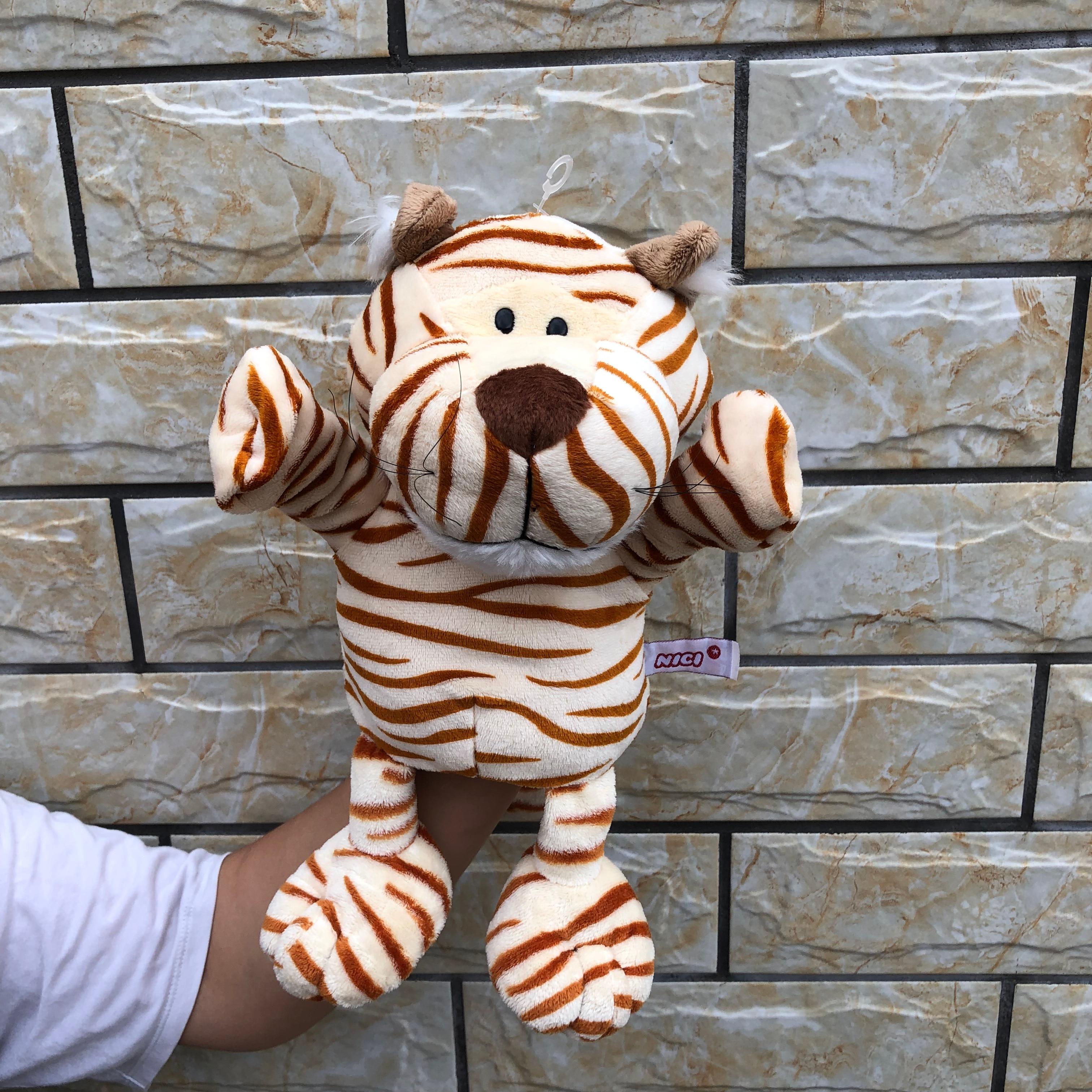 30cm moderne dessin animé enfants bébé jouet main marionnette poupée animaux tigres gants pour enfants enfant mignon doux en peluche jouets marionnette