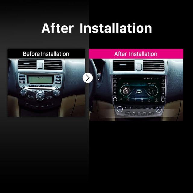 Seicane-lecteur multimédia de voiture | Autoradio, 10.1 pouces, Android 9.1 2din, 2003 2004, Honda Accord 7, 2005 2006