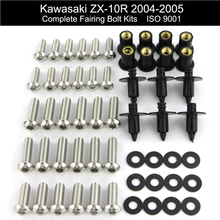 For Kawasaki ZX10R ZX 10R ZX-10R 2004 2005 Motorcycle Complete Full Fairing Bolt Kit Clips Speed Nuts Stainless Steel
