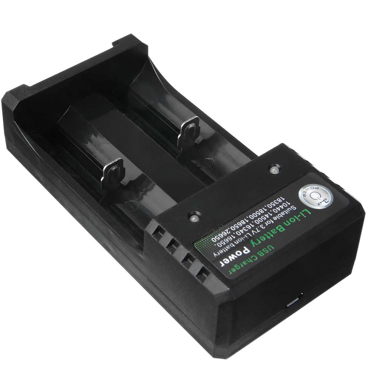 عالمي مزدوج USB شاحن بطارية شحن للبطاريات 3.7 فولت 18350 ليثيوم 18650 16340 18500 مع كابل يو اس بي