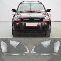 1pair Auto Car Headlight Headlamp Clear Lens Cover Left + Right For HYUNDAI TUCSON 2005 2006 2007 2008 2009