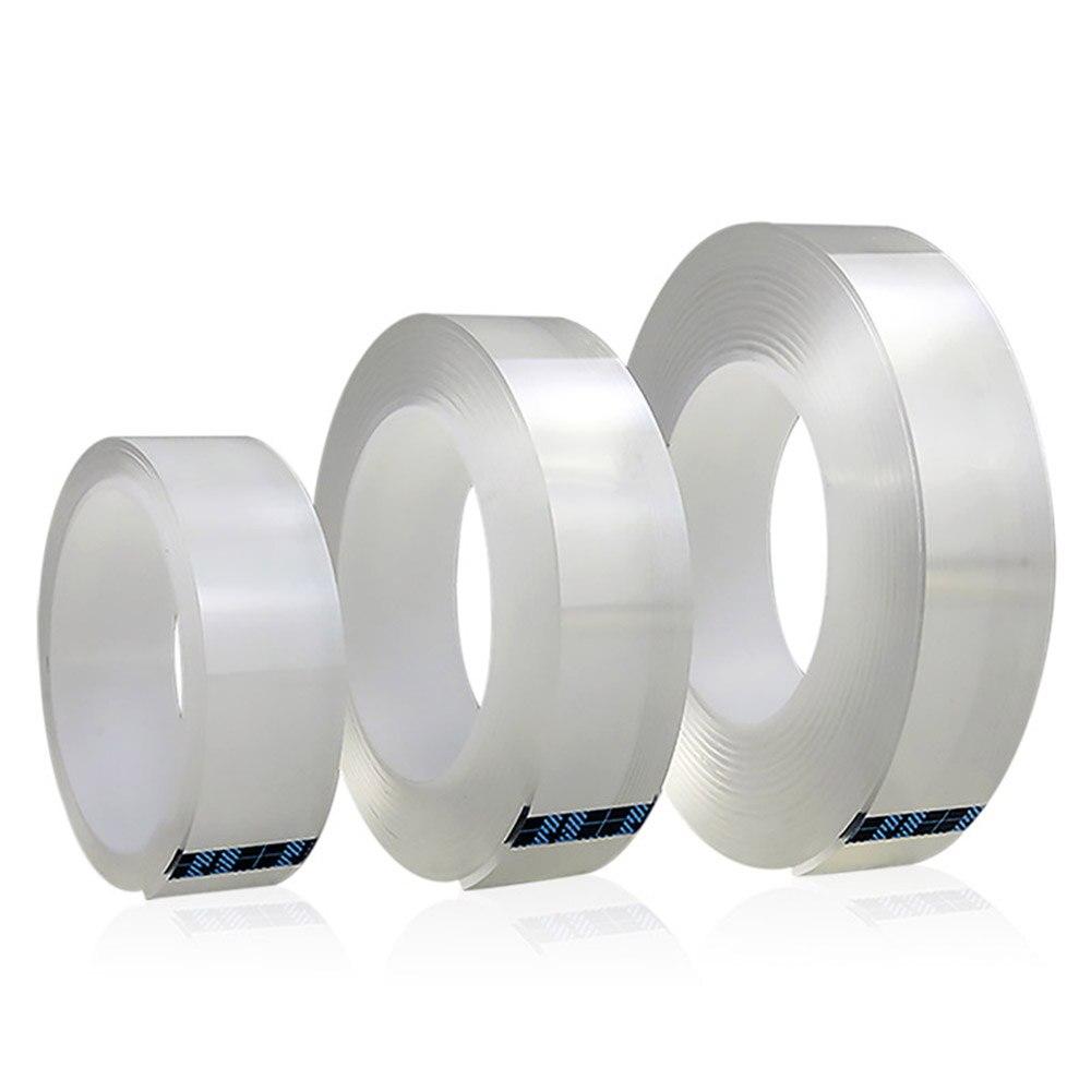 1/2/3 / 5m Reusable Double-sided Adhesive Nano-No Trace Tape Detachable Sticker Washable Tape Household Non-slip Fixative Glue