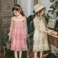 Bridesmaid Dresses for Girls 2019 Spring Autumn Princess Lace Dress Little Girl Teenage Girl Party Dress Modis vestidos Y1828