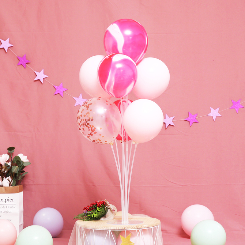7 Tubes Stand Balloon With Holder Column Confetti Balloon For Baby Shower And Wedding Decoration 1