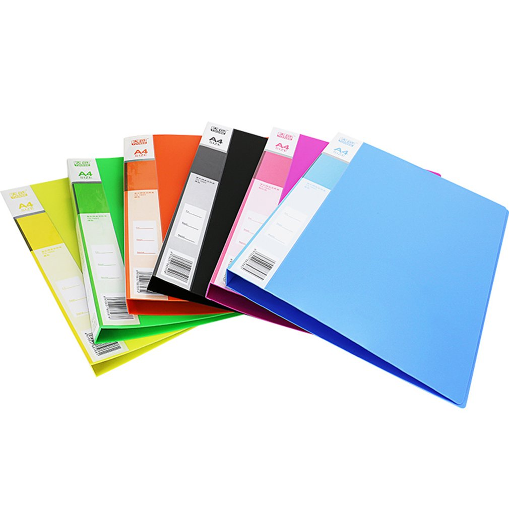 TS-1603 Solid Color Stationery Files Folder Portable Size Business Office Document Holder Folder For A4 Paper