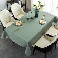 Toalha de mesa retangular do pvc oilcloth impermeável na trilha de pano da capa de mesa na tabela para a decoração da cozinha para a casa