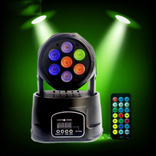 цена на Mini 150W RGB Full Color LED Moving Head Lamp DMX Disco Ball Spotlight DJ Party Beam Projector Stage Show Par Lights