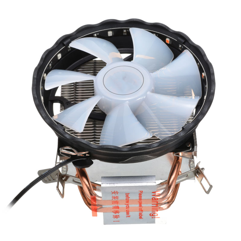 RGB LED Heatsink Cooling Fan Silent CPU <font><b>Cooler</b></font> 3 Pin RGB Fan <font><b>Cooler</b></font> For Intel LGA 1150 1151 1155 <font><b>1156</b></font> 1366 775 AMD image