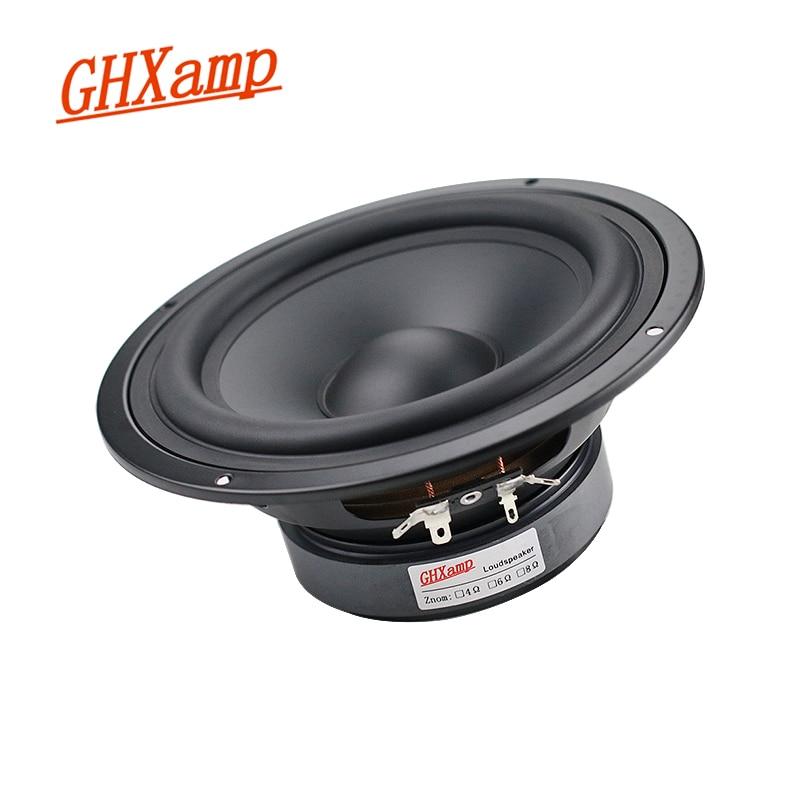 Ghxamp 6.5 polegada 178mm woofer baixo midrange alto-falante unidades de alta fidelidade desktop pa alto-falante de cinema em casa 8ohm 130w 1 pçs