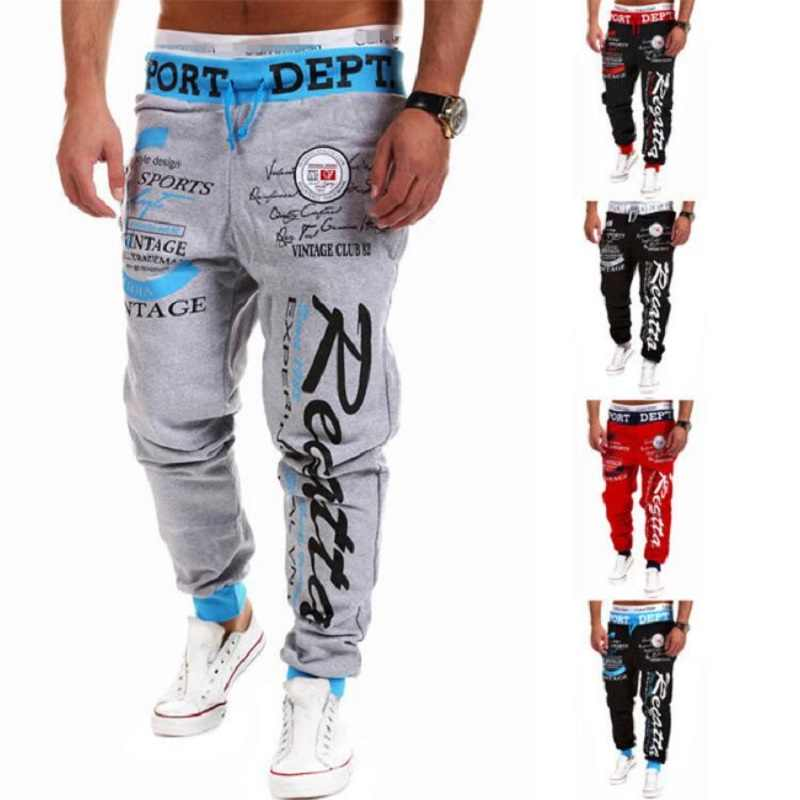 Autumn Winter Running Pants Men Loose Joggers Dance Basketball Sweatpants Gym Training Jogging Pants Mens Sport Trousers Letter