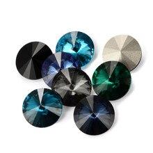 Astrobox-strass ronds en verre de cristal, pierres Rivoli pour vêtement bricolage soi-même