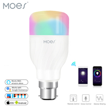 WiFi Smart Light Bulb Intelligent Colorful LED Lamp 7W RGBW APP Remote Control Works with Alexa Google for Smart Home B22