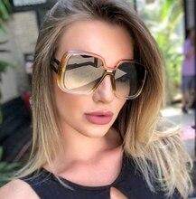 High Quality Fashion Luxury Sunglasses Female Big Square Sun Glasses Woman Brand Designer Colour Lens de sol With box 97672 стоимость