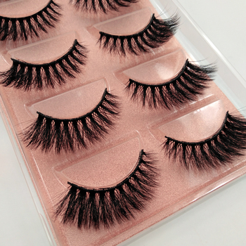 5 Pairs 3D Eyelashes Hand Made Natural Long Faux Mink Lashes High Quality False Lashes Extensions Maquiagem Makeup Tool