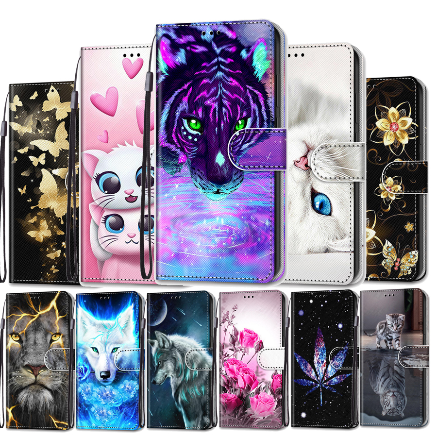 Funda For <font><b>Samsung</b></font> Galaxy <font><b>S10</b></font> Case Leather Wallet Stand Holder <font><b>Flip</b></font> <font><b>Cover</b></font> for <font><b>Samsung</b></font> Galaxy <font><b>S10</b></font> Plus Lite S10E Phone Case Flower image