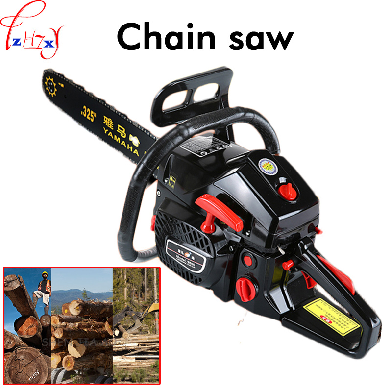 3.8KW High Power Hand Chain Saw Tool Grinder Cutting Machine Gas Gasoline Saw Logging Saws Wood Tools Powered Chainsaw Tool 1PC