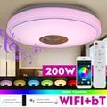 200W WiFi Moderne RGB LED Decke Licht Hause Beleuchtung APP bluetooth Musik Licht Schlafzimmer Lampe Smart Decke Lampe Fernbedienung control