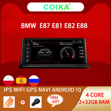 COIKA Android Sistema Car Multimedia Player Para BMW E81 10 E82 E87 E88 WIFI 2 + SWC 32GB de RAM BT IPS Tela Sensível Ao Toque GPS Navi Stereo