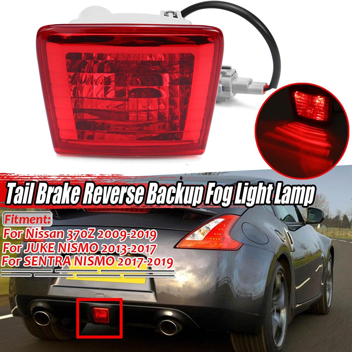 Czerwony 370Z samochód tylny hamulec lampa przeciwmgielna rewers Backup dla Nissan 370Z dla JUKE dla NISMO dla SENTRA dla NISMO 2009-2019