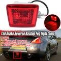 Rot 370Z Auto Hinten Schwanz Bremse Nebel Licht Lampe Umge Backup Für Nissan 370Z Für JUKE Für NISMO Für SENTRA für NISMO 2009-2019