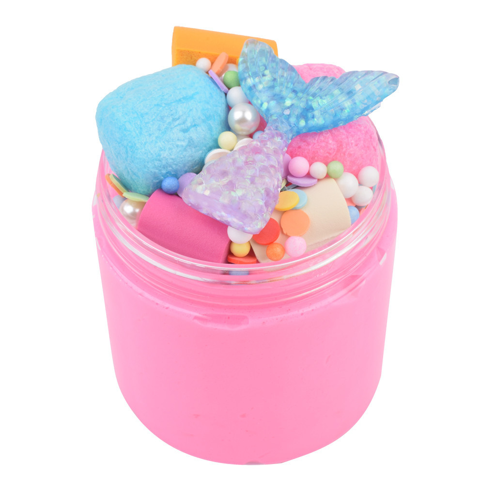 New Mud Mixing Cloud Slime Charms Gum Polymer Clay Antistress Colored Soft Fluffy Slime Toys Supplies #B