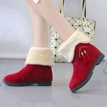 Women's Snow Boots Winter Korean Warm Ladies Ankle Boots Bow Faux Suede Platform Boots Two Wear Fashion In The Tube Ladies Shoes(China)