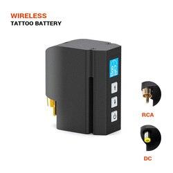 Solong nova fonte de alimentação sem fio da tatuagem dc & rca interface 2400 mah bateria lítio tatuagem máquina suprimentos p198