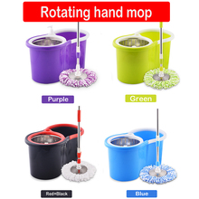 Bucket Set 360 Degree Rotary Double Drive Hand Pressure Free Wash Mop Stainless Steel Handle Household Cleaning Tools D20