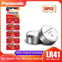 10 pçs panasonic 192 lr41 1.5v botão baterias de célula sr41 ag3 g3a l736 192 392a para brinquedos relógio calculadora computador relógio 0% hg