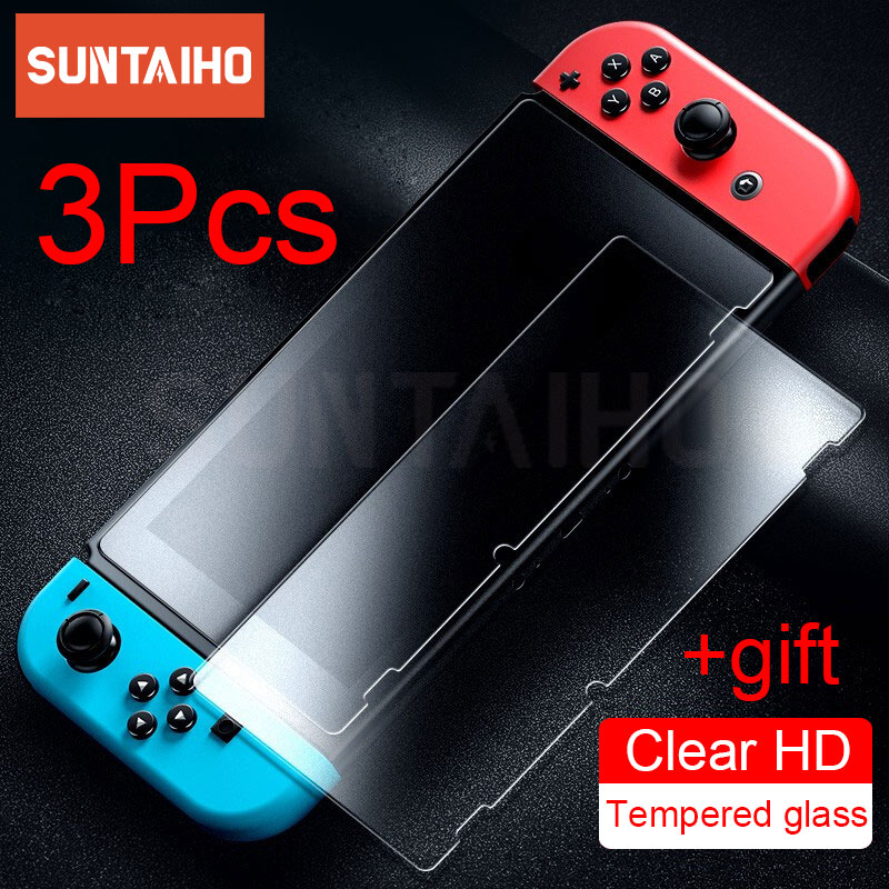 3PC Tempered Glass 9H HD Screen Protector Film For Nintendo Switch NS Screen Protector For Nintendo Switch Lite Accessories 1