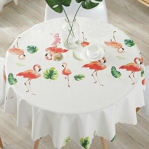 Image 4 - Groen Blad Gedrukt Ronde Tafelkleed Waterdicht Tafelkleed Thuis Eettafel Cover Voor Kithchen Kamer Oilproof Wasbare