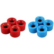 PUENTE-ruedas de monopatín de PU, duraderas y portátiles, 70x51mm, Kit de reconstrucción o reparación de monopatín, color azul y rojo, paquete de 8 Uds.