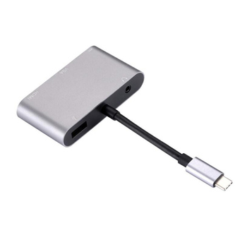5 in 1 USB C HDMI Type C to HDMI 4K Adapter VGA USB3.0 Audio Video Converter PD Fast Charge for  Pro for Samsung 1