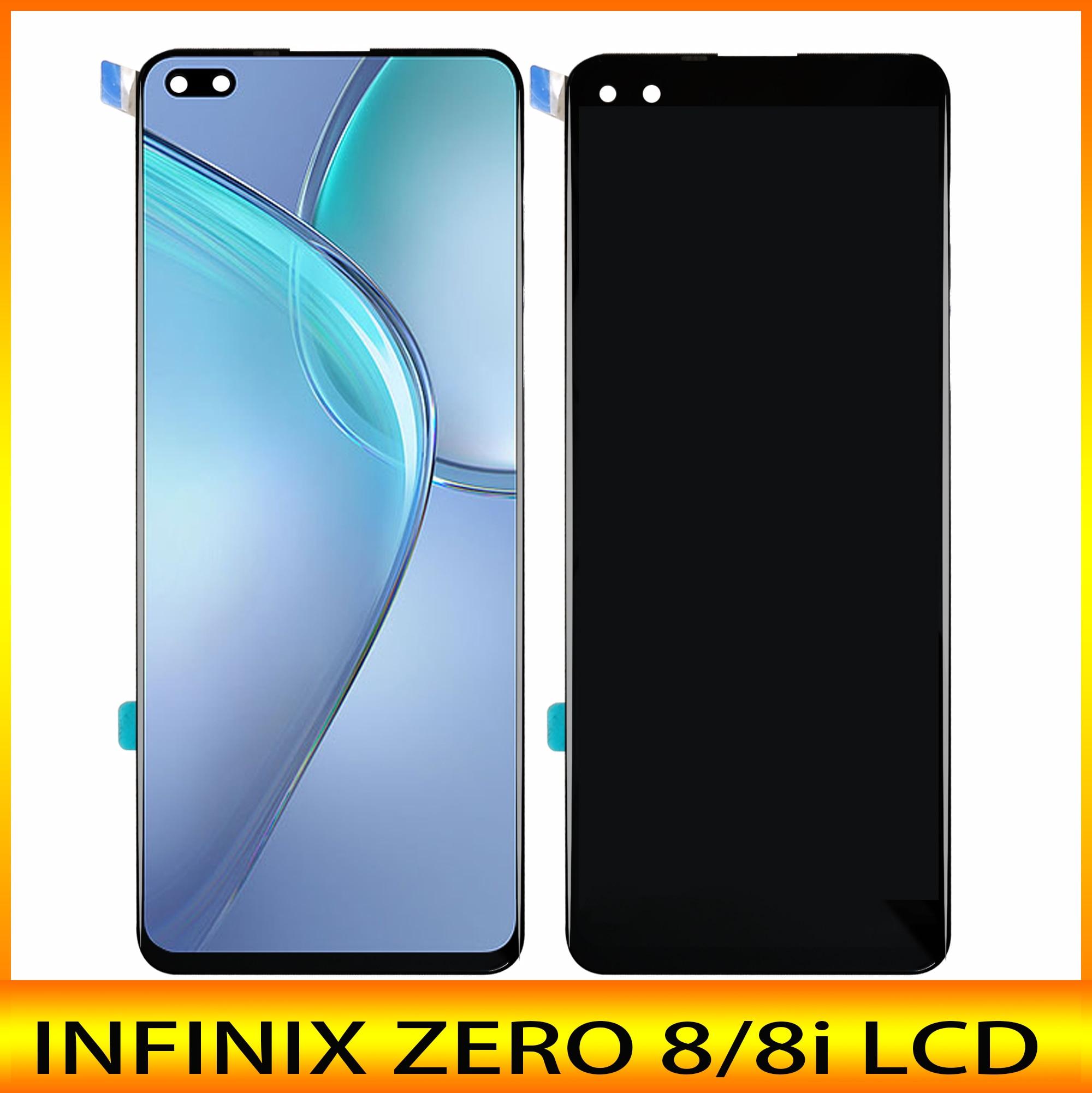 Новинка, ЖК-дисплей 6,85 дюйма для Infinix zero 8 X687 / zero 8i X687B, ЖК-дисплей кодирующий преобразователь сенсорного экрана в сборе 100%, отличный ремонт