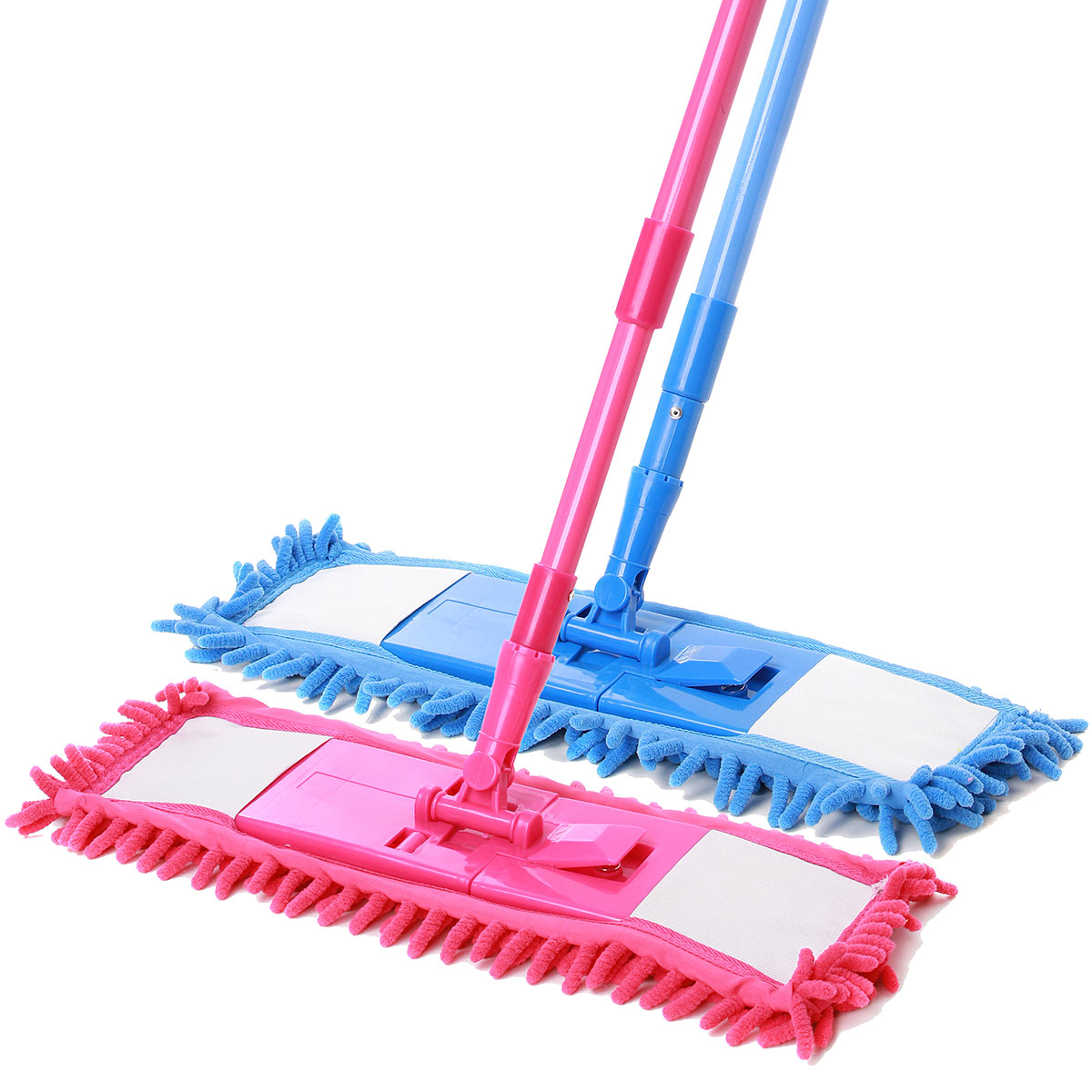 Dry and Wet Cleaning Sweeper With Telescopic Handle Extendable Microfibre Floor Mop Soft Bristle Rubber Broom Sweeper