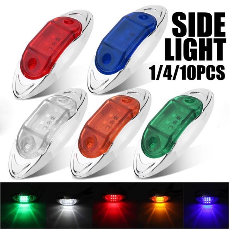 Umrissleuchten Montage 1x LED Front Seite Marker Anzeige Licht 12V 24V Auto Lkw Van Anhänger Bernstein Signal lampe Montage