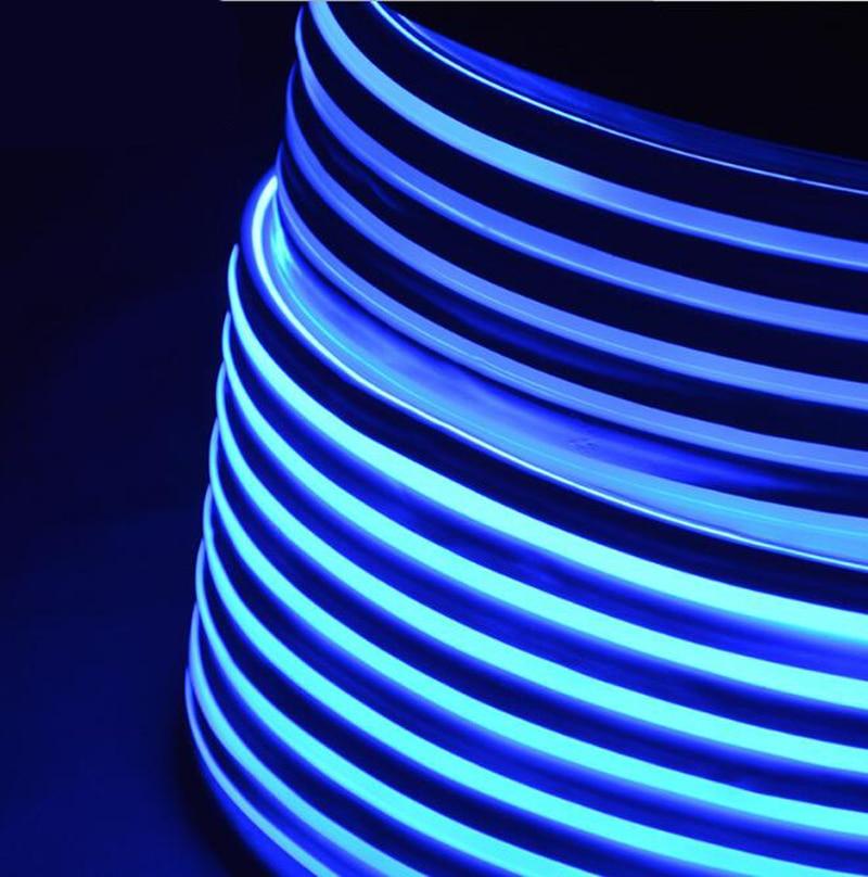 Fanlive супер яркий 50 м светодиодный неоновый свет 110 В 220 В Гибкая лампа красное украшение слоновая кость 80 светодиодный s/M светодиодная лента Водонепроницаемый свет Rgb - 2