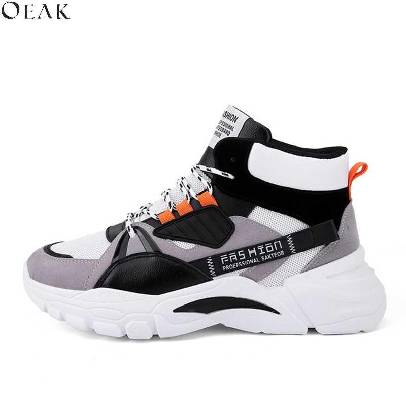 6 renkler kalın alt erkek rahat ayakkabılar erkekler Sneakers erkekler eğilim dantel-up lüks kapalı spor pamuk spor INS beyaz ayakkabı erkekler