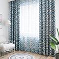 Затемняющие шторы с геометрическим узором и алмазным принтом  драпированные занавески для гостиной  синие современные шторы для спальни  к...