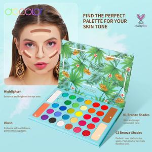 Image 5 - Docolor Nude Ombretto Tavolozze 34 colori Matte Shimmer Glitter Eyeshadow Trucco Tavolozze In Polvere Impermeabile Pigmentato Cosmetici