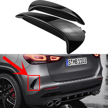 Glossy Black Rear Flicks Bumper Spoiler Canards Splitter For Mercedes Benz H247 GLA200 GLA220 GLA250 GLA35 GLA45S AMG Line 2020+