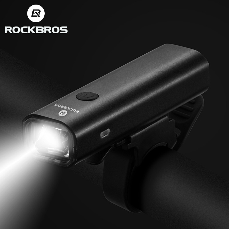 ROCKBROS <font><b>Bike</b></font> Light Aluminum Alloy Led USB Rechargeable Safety MTB Front <font><b>Bike</b></font> Lamp Bicycle Headlight Flashlight <font><b>Bike</b></font> <font><b>Equipment</b></font> image