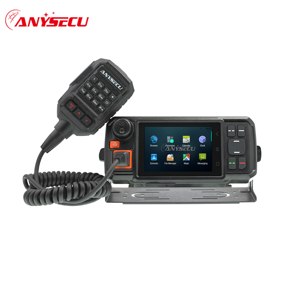 Anysecu Network-Transceiver Walkie-Talkie Car-Radio POC Android 4g-W2-Plus GPS Wifi