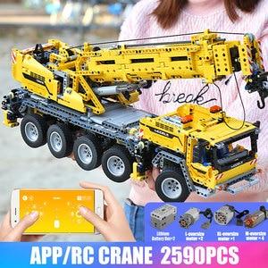Image 5 - 20004 APP Control Technic Car Compatible With 42009 Mobile Crane MK II Set Kid Christmas Toys Gifts Building Blocks Bricks Kits