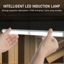 Lampe LED USB sans fil avec capteur de mouvement, interrupteur à balayage manuel sous-meuble, éclairage pour armoire de cuisine, garde-robe
